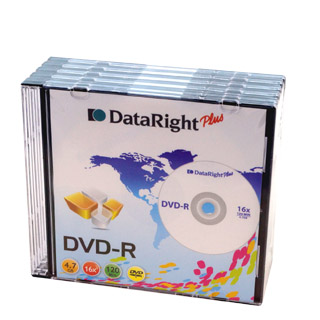 DVD-R DATA RIGHT SLIM ΣΕ ΘΗΚΗ 4,7GB